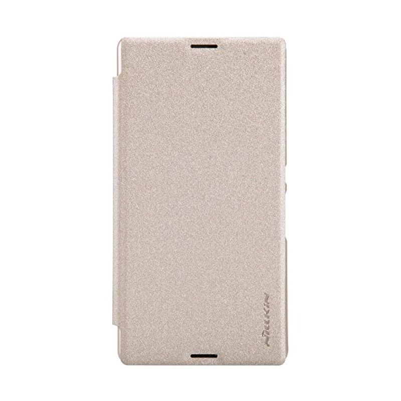 Nillkin Sparkle Leather Gold Casing for Sony Xperia E3