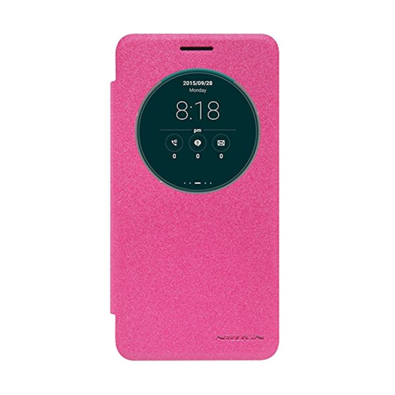 Nillkin Sparkle Leather Pink Casing for Asus Zenfone Go ZC500TG