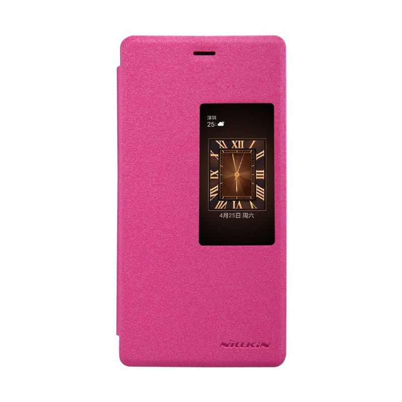 Nillkin Sparkle Leather Pink Casing for Huawei Ascend P8