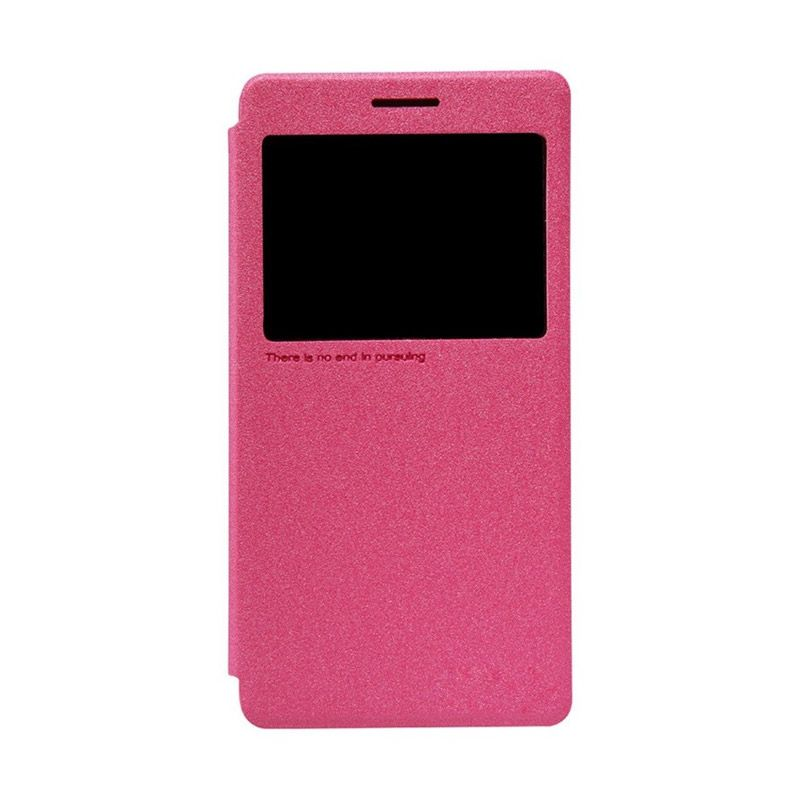 Nillkin Sparkle Leather Pink Casing for Lenovo K3 Note A7000