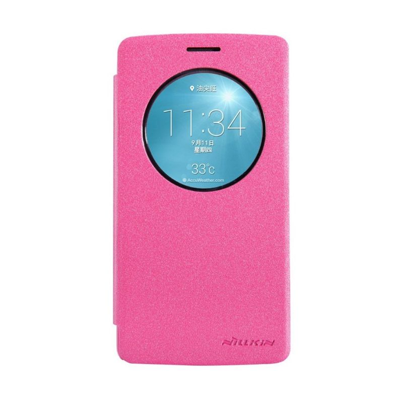 Nillkin Sparkle Leather Pink Casing for LG G3 S G3 Beat