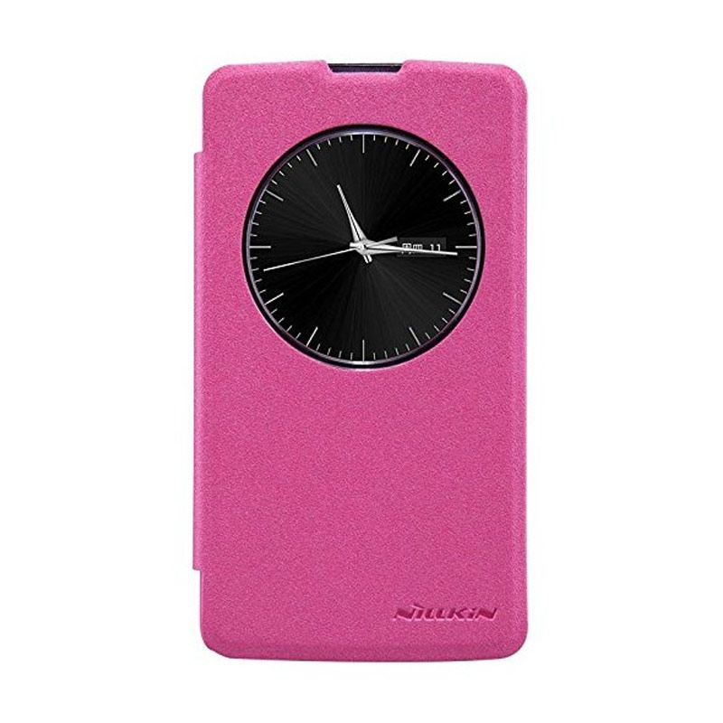 NILLKIN Sparkle Leather Pink Casing for LG L Fino D295