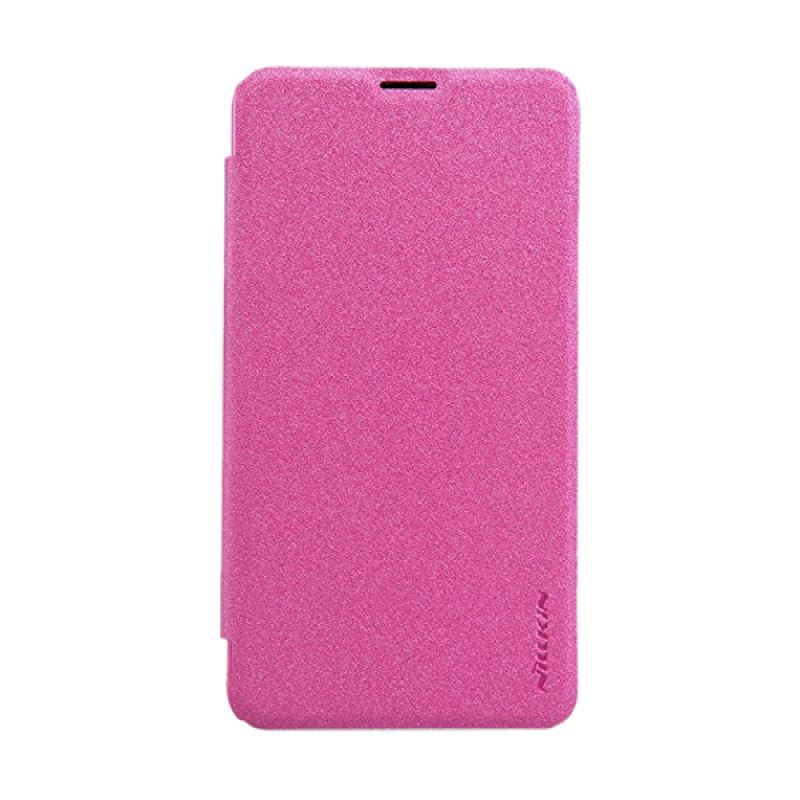 Nillkin Sparkle Leather Pink Casing for Nokia Lumia 640