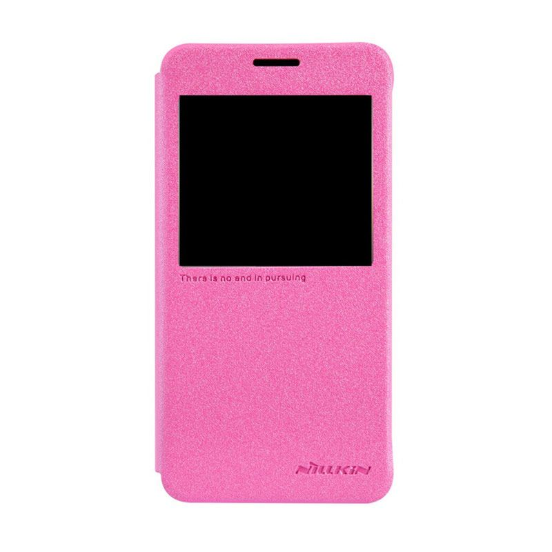 NILLKIN Sparkle Leather Pink Casing for Samsung Galaxy Alpha G850