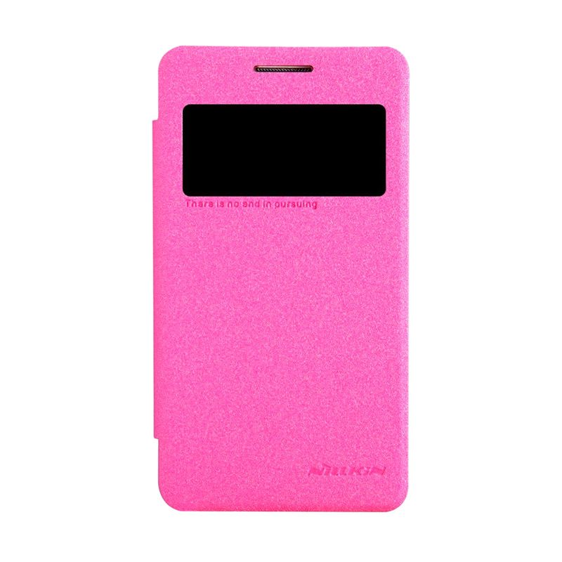 NILLKIN Sparkle Leather Pink Casing for Samsung Galaxy Core 2