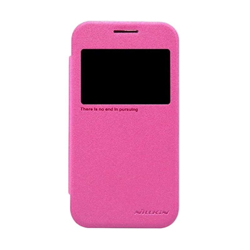 NILLKIN Sparkle Leather Pink Casing for Samsung Galaxy Core Prime