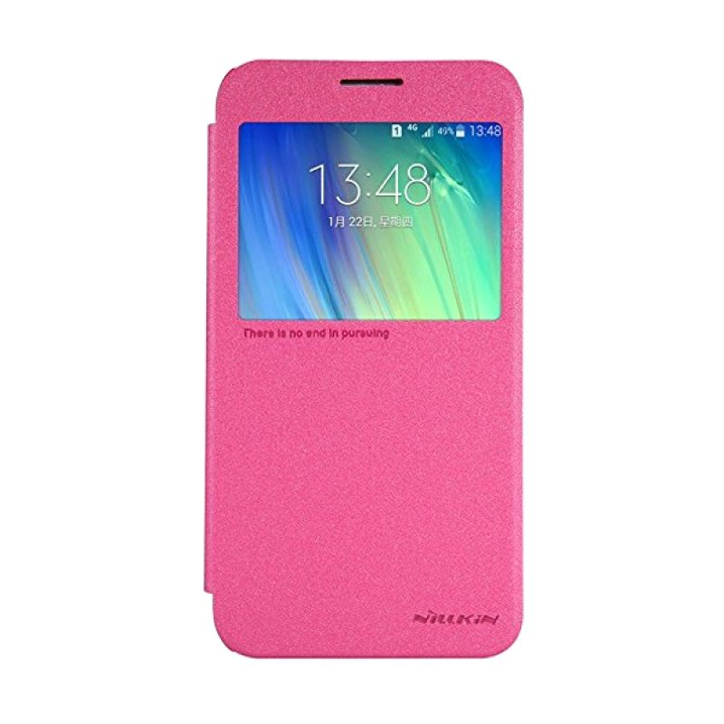 NILLKIN Sparkle Leather Pink Casing for Samsung Galaxy E7