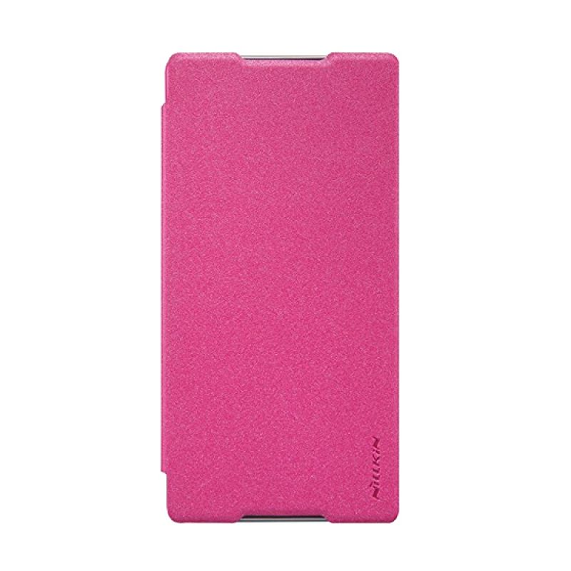 Nillkin Sparkle Leather Pink Casing for Sony Xperia C5 Ultra