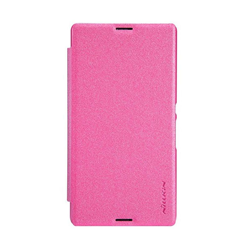 Nillkin Sparkle Leather Pink Casing for Sony Xperia E3