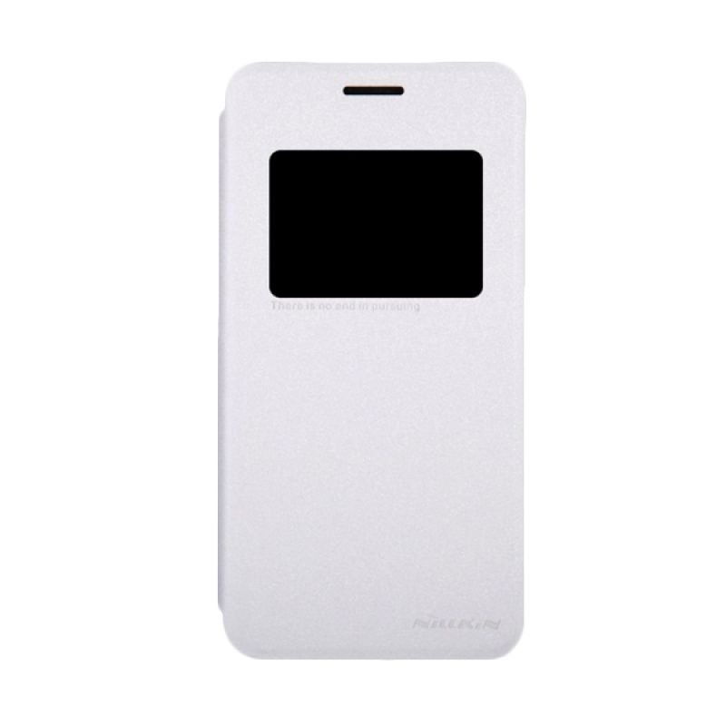 Nillkin Sparkle Leather Windows Flip Cover White Casing for Asus Zenfone 5
