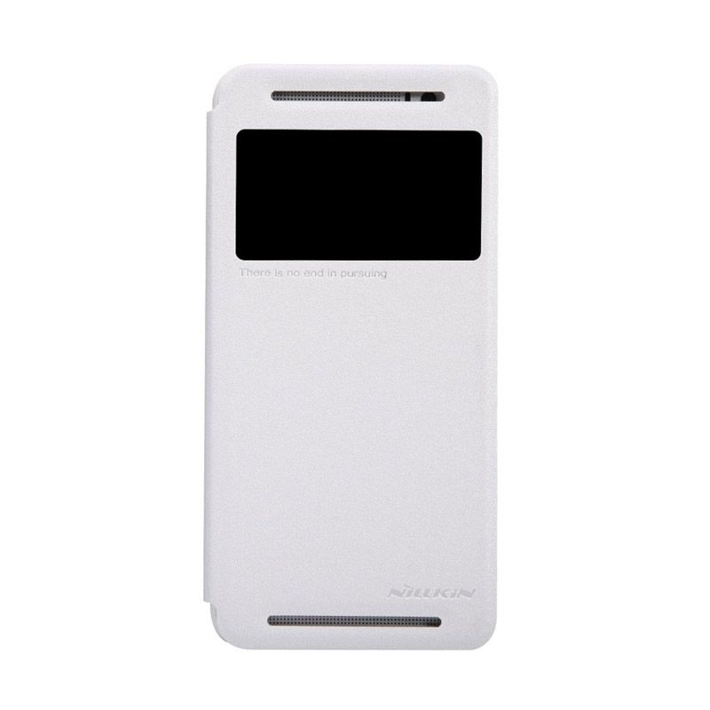NILLKIN Sparkle Leather White Casing for HTC One E8