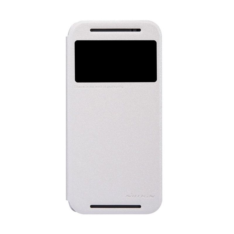 NILLKIN Sparkle Leather White Casing for HTC One M8