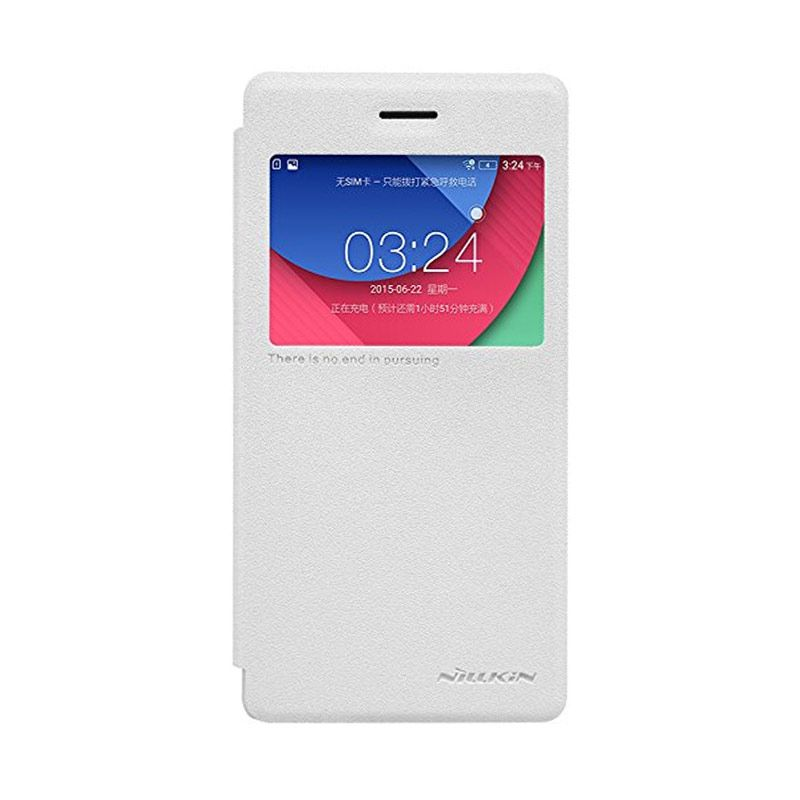 NILLKIN Sparkle Leather White Casing for Lenovo Vibe Shot Z90