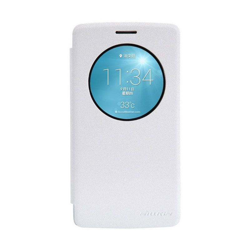 Nillkin Sparkle Leather White Casing for LG G3 S G3 Beat