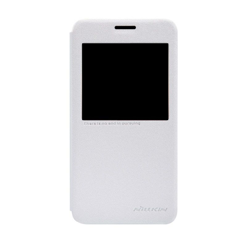 NILLKIN Sparkle Leather White Casing for Samsung Galaxy Alpha G850