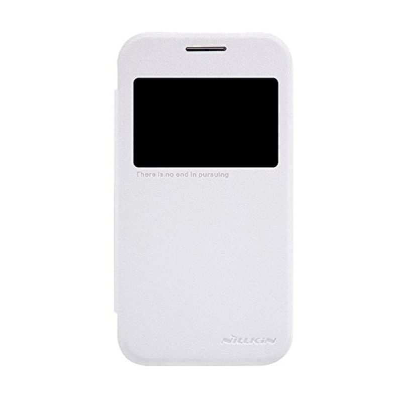 NILLKIN Sparkle Leather White Casing for Samsung Galaxy Core Prime