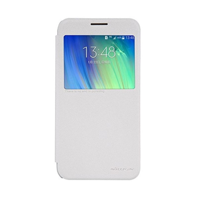Nillkin Sparkle Leather White Casing for Samsung Galaxy E7 E700