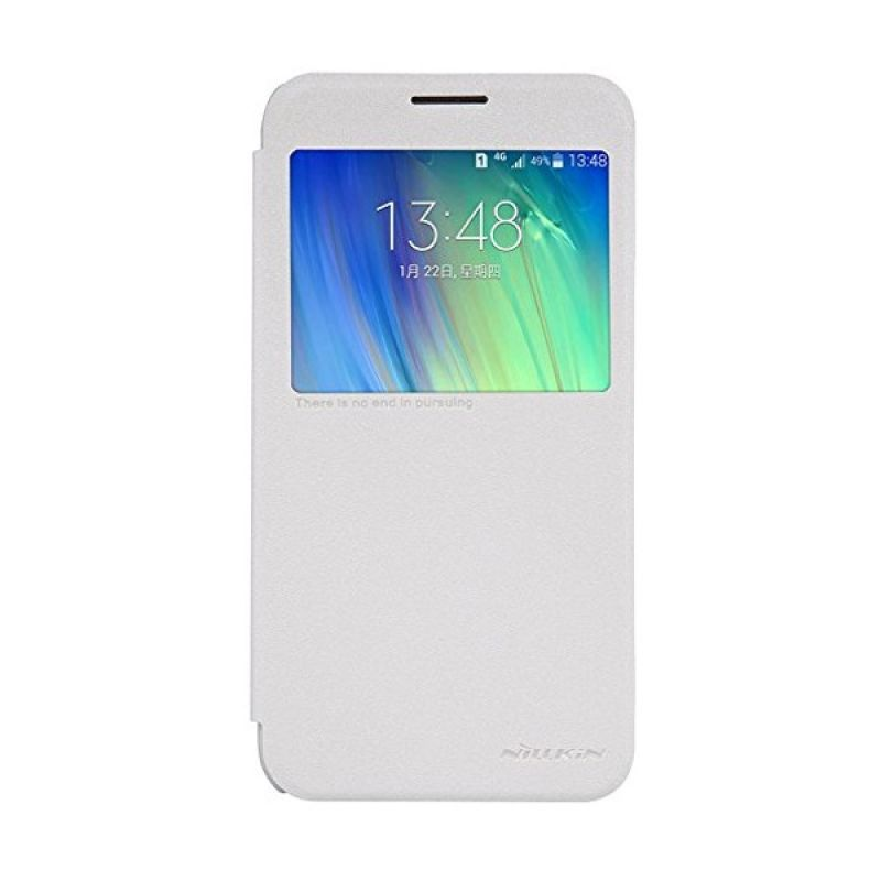 NILLKIN Sparkle Leather White Casing for Samsung Galaxy E7