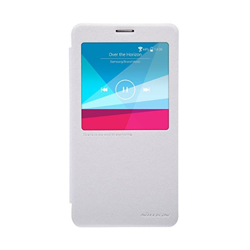 Nillkin Sparkle Leather White Casing for Samsung Galaxy Note 4 N9100