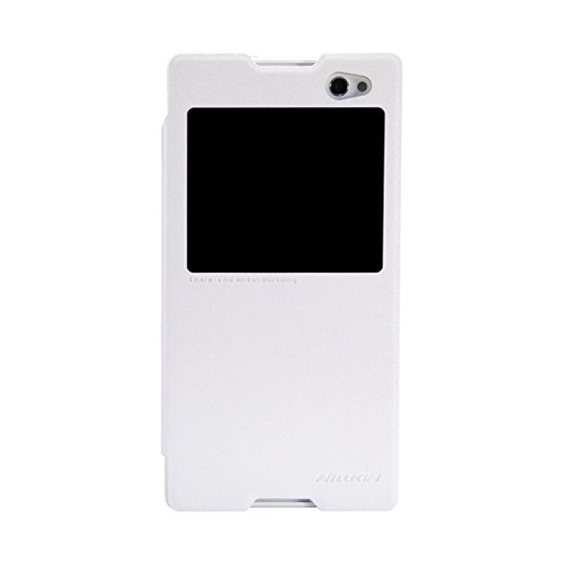 Nillkin Sparkle Leather White Casing for Sony Xperia C3 or C3 Dual S55T