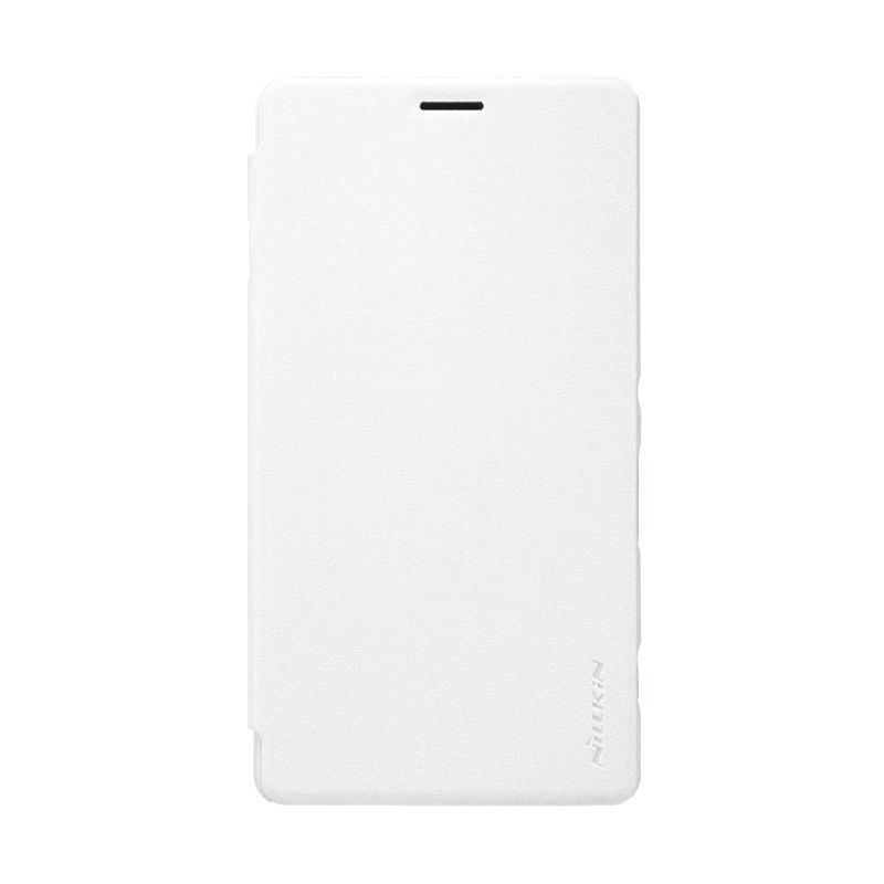 Nillkin Sparkle Leather White Casing for Sony Xperia C5 Ultra