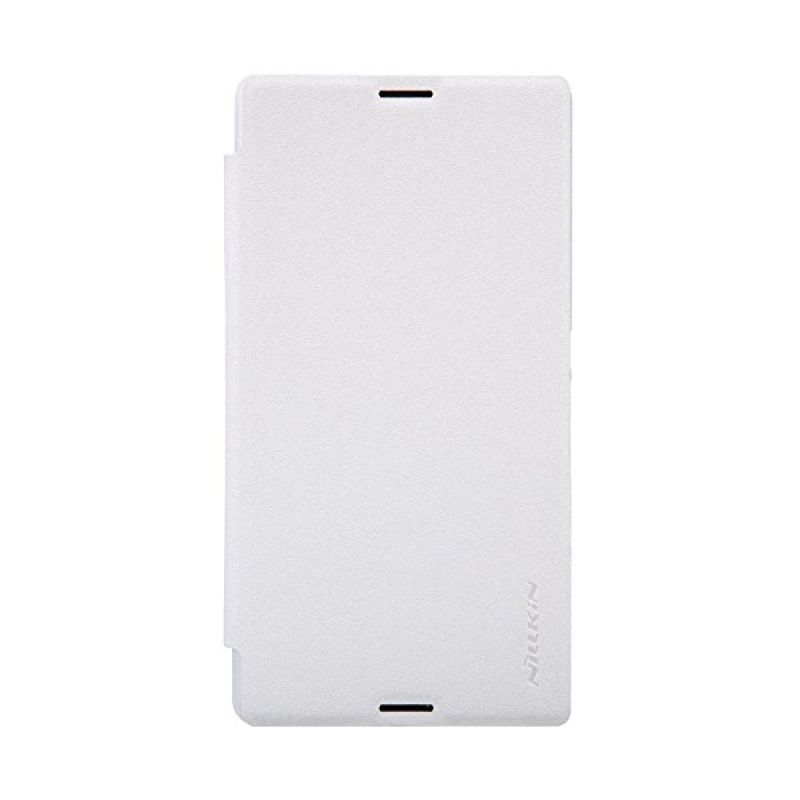 Nillkin Sparkle Leather White Casing for Sony Xperia E3