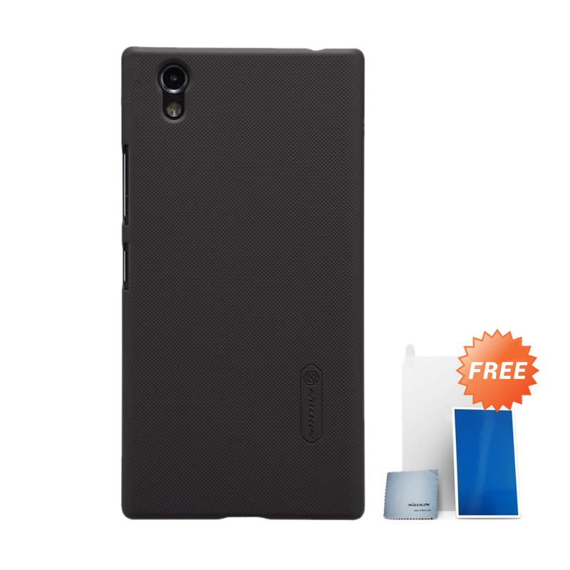 Nillkin Super Frosted Shield Black Casing for Lenovo P70 + Screen Protector