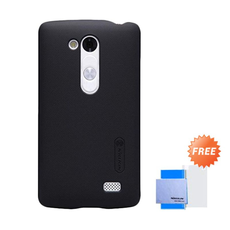 Nillkin Super Frosted Shield Black Casing for LG L Fino D295 + Screen Protector