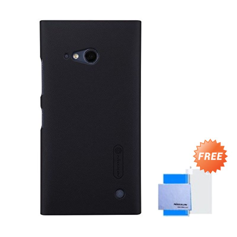 Nillkin Super Frosted Shield Black Casing for Nokia Lumia 730 + Screen Protector