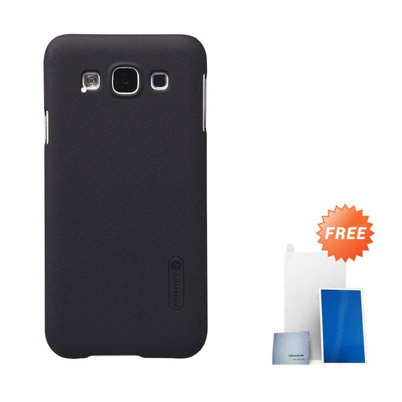 Nillkin Super Frosted Shield Black Casing for Samsung Galaxy E5 E500 + Screen Protektor