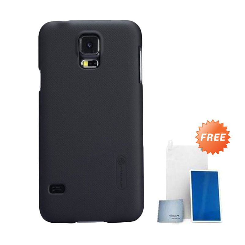 Nillkin Super Frosted Shield Black Casing for Samsung Galaxy S5 i9600 + Nillkin Screen Protector