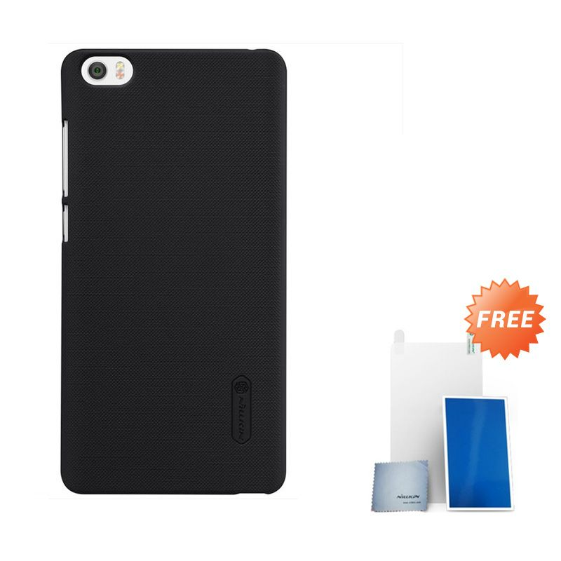 Nillkin Super Frosted Shield Black Casing for Xiaomi Note or Minote + Screen Protector