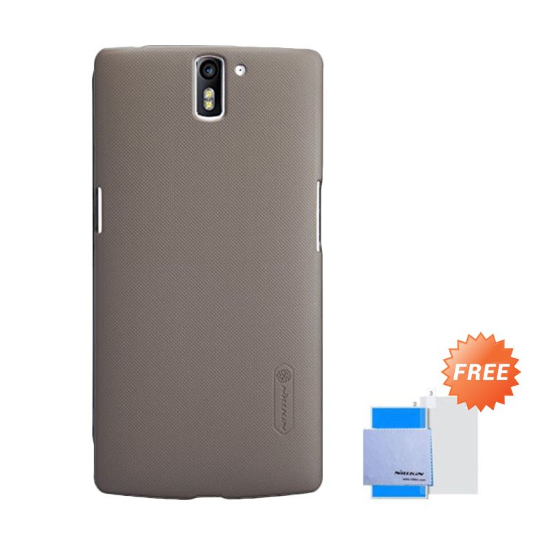 Nillkin Super Frosted Shield Brown Casing for OnePlus One + Sreen Protector