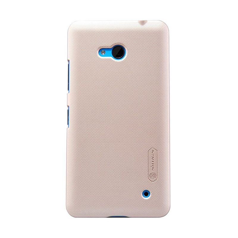 Nillkin Super Frosted Shield Gold Casing for Nokia Lumia 640