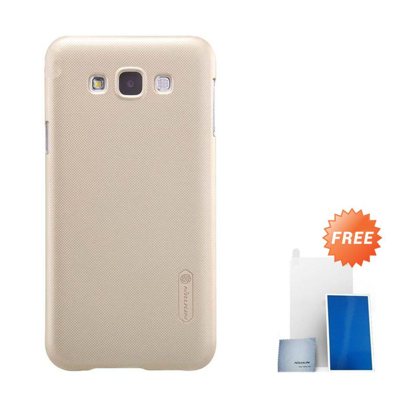 Nillkin Super Frosted Shield Gold Casing for Samsung Galaxy E7 + Screen Protektor