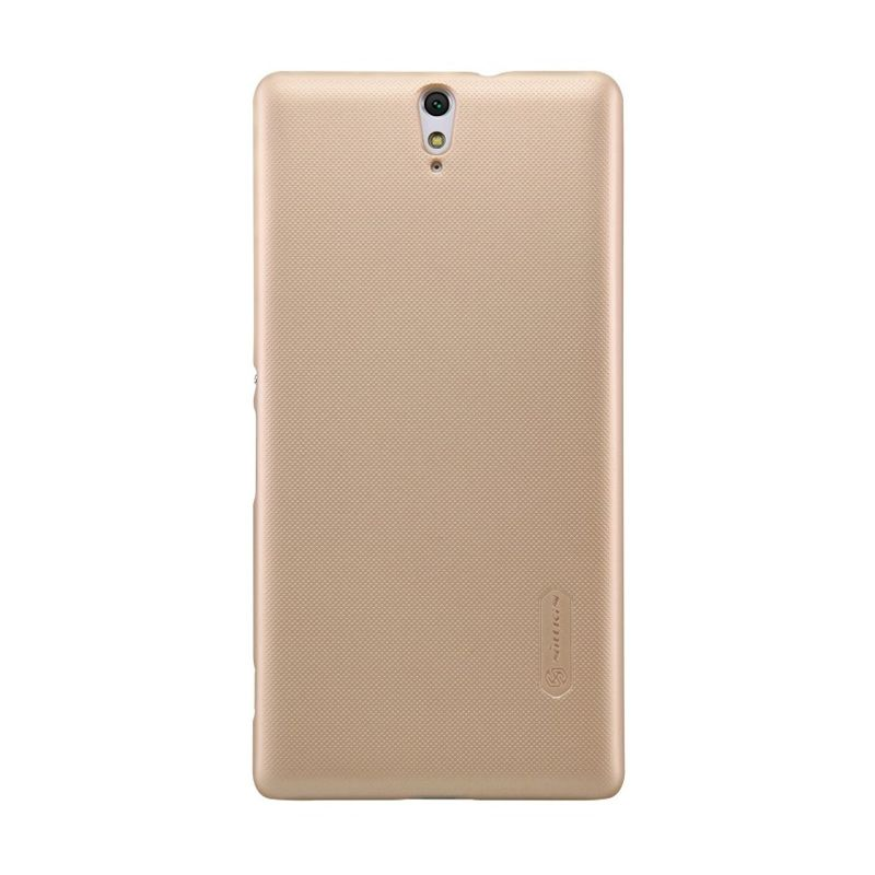NILLKIN Super Frosted Shield Gold Casing for Sony Xperia C5 Ultra