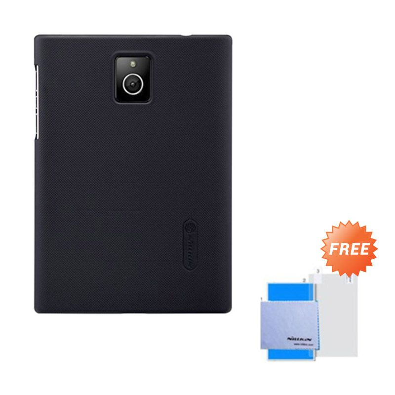 Nillkin Super Frosted Shield Hitam Casing for Blackberry Passport + Anti Gores
