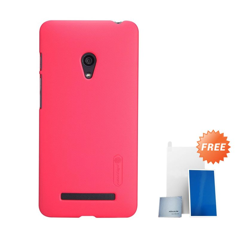 Nillkin Super Frosted Shield Light Red Casing for Nokia Lumia 930 + Screen Protector