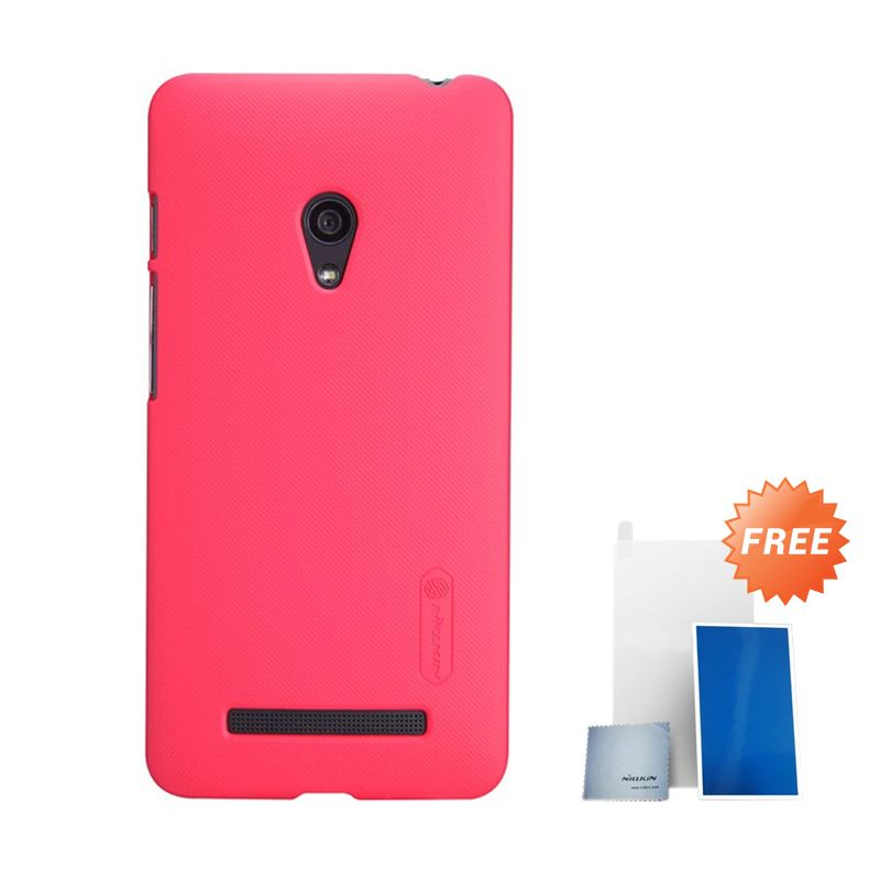 Nillkin Super Frosted Shield Red Light Casing for Nokia Lumia 630 + Screen Protector