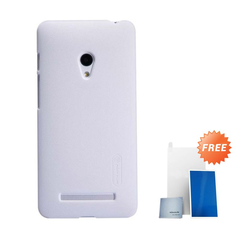 Nillkin Super Frosted Shield White Casing for Nokia Lumia 630 + Screen Protector