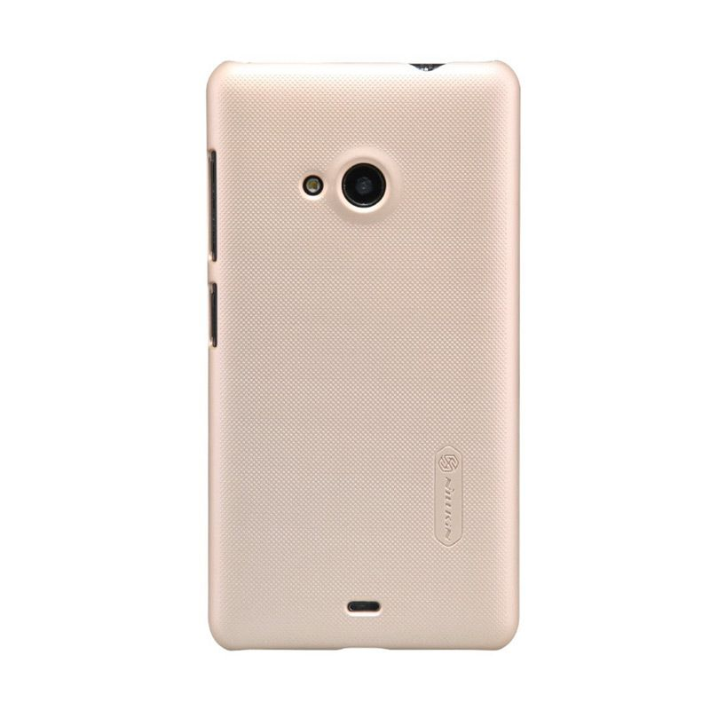 Nillkin Super Frosted Shield Gold Casing For Nokia Lumia 535