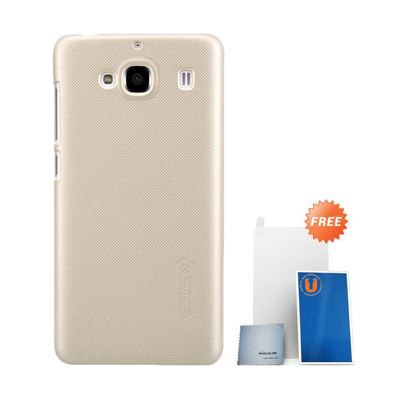 Nillkin Super Frosted Shield Gold Casing for Xiaomi Redmi 2 + Screen Protector
