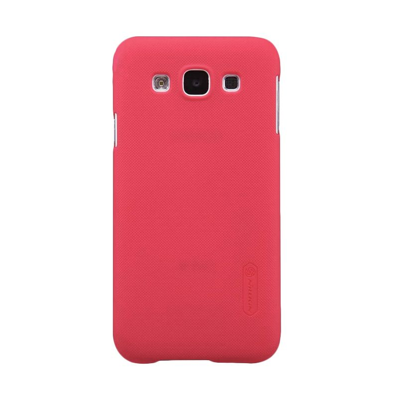 Nillkin Super Frosted Shield Merah Casing For Samsung Galaxy E7 E700 + Screen Protector
