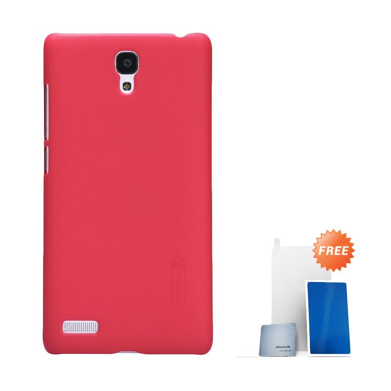 Nillkin Super Frosted Shield Merah Casing For Xiaomi Redmi Note+ Screen Protector