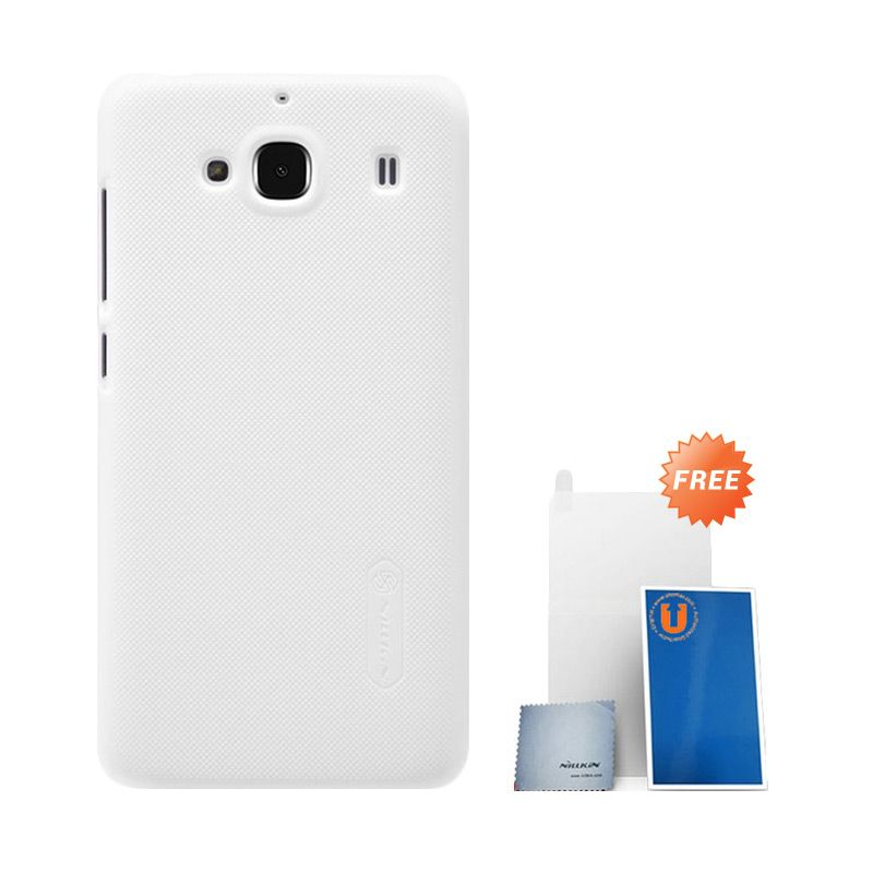Nillkin Super Frosted Shield White Casing for Xiaomi Redmi 2 + Screen Protector