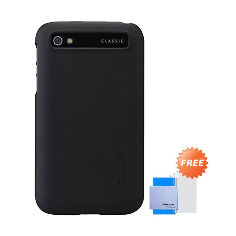 Nillkin Super Frosted Shield Hitam Casing for Blackberry Classic Q20 + Screen Protector