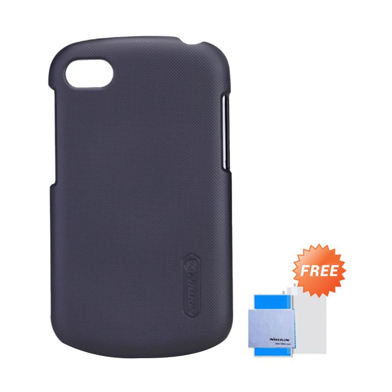 Nillkin Super Frosted Shield Hitam Casing for Blackberry Q10 + Screen Protector