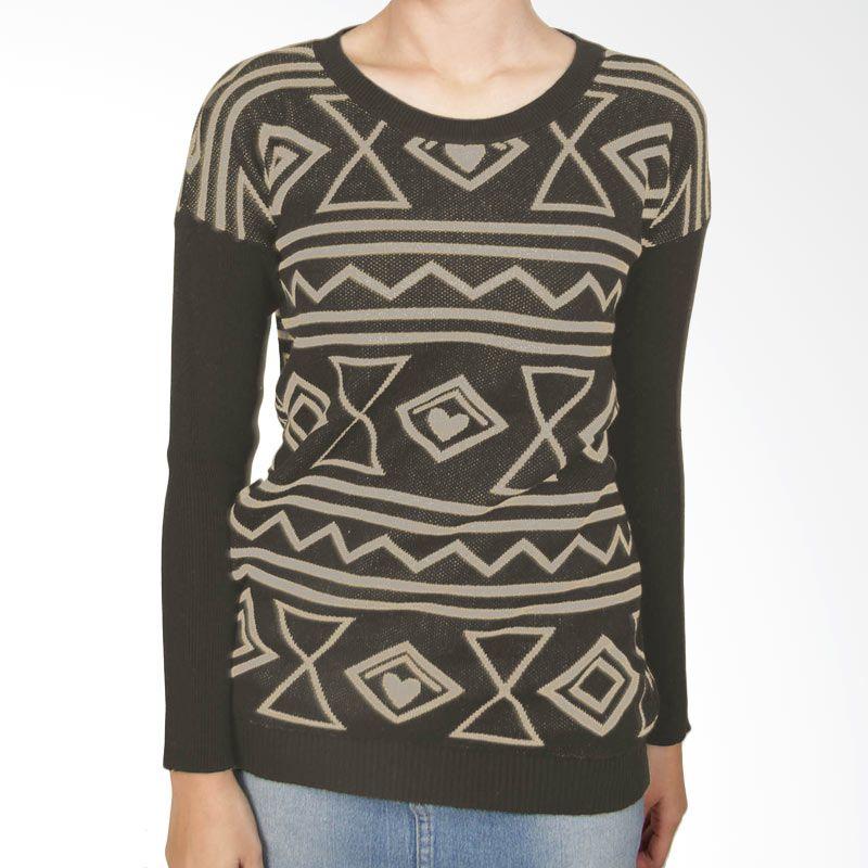 Gaia LV Kopi Sweater Wanita