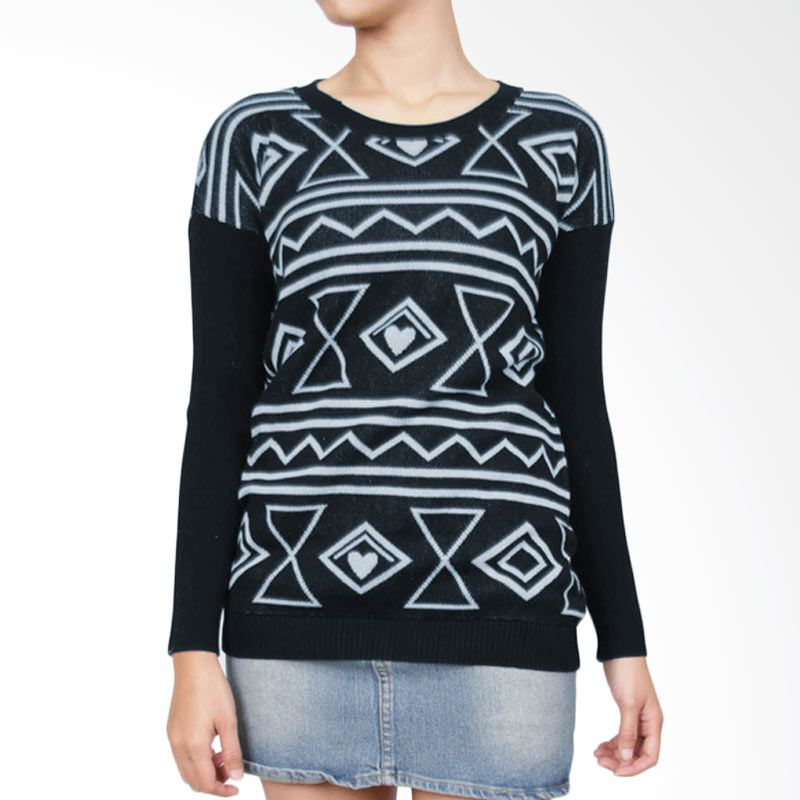 Gaia LV Navy Sweater Wanita