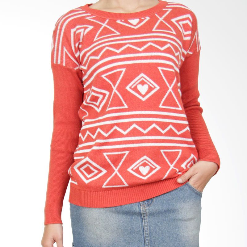 Gaia LV Orange Sweater Wanita